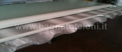 Tenda da sole a caduta rigato bianco grigio in offerta