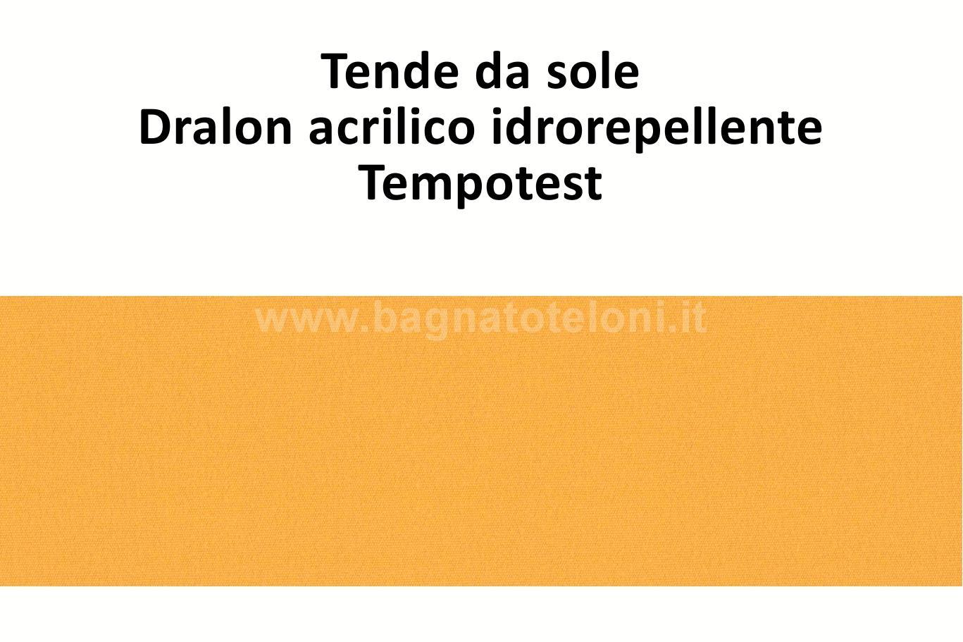 tende da sole dralon acrilico idrorepellente arancio