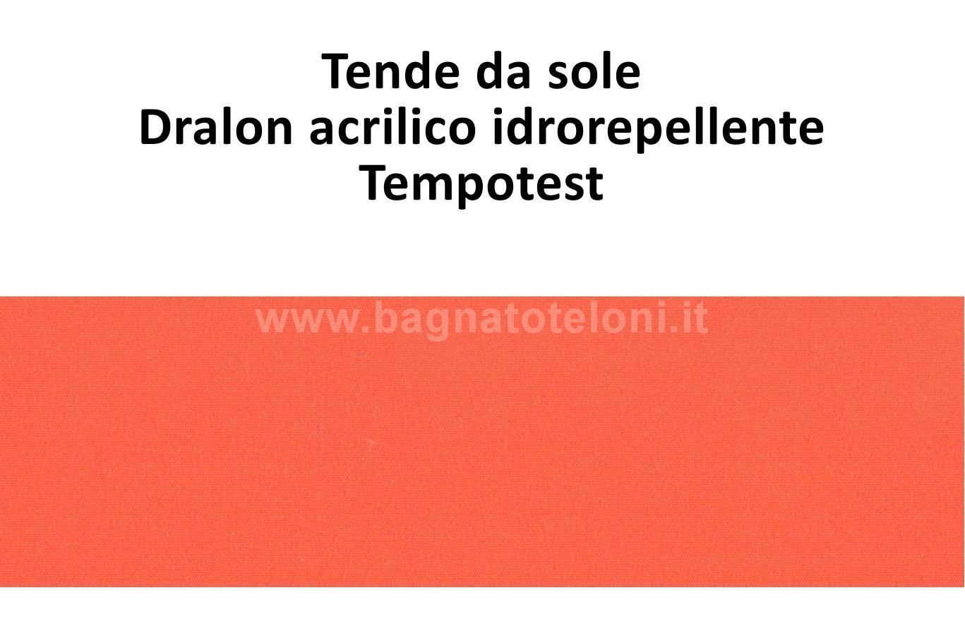 tende da sole dralon acrilico idrorepellente arancione