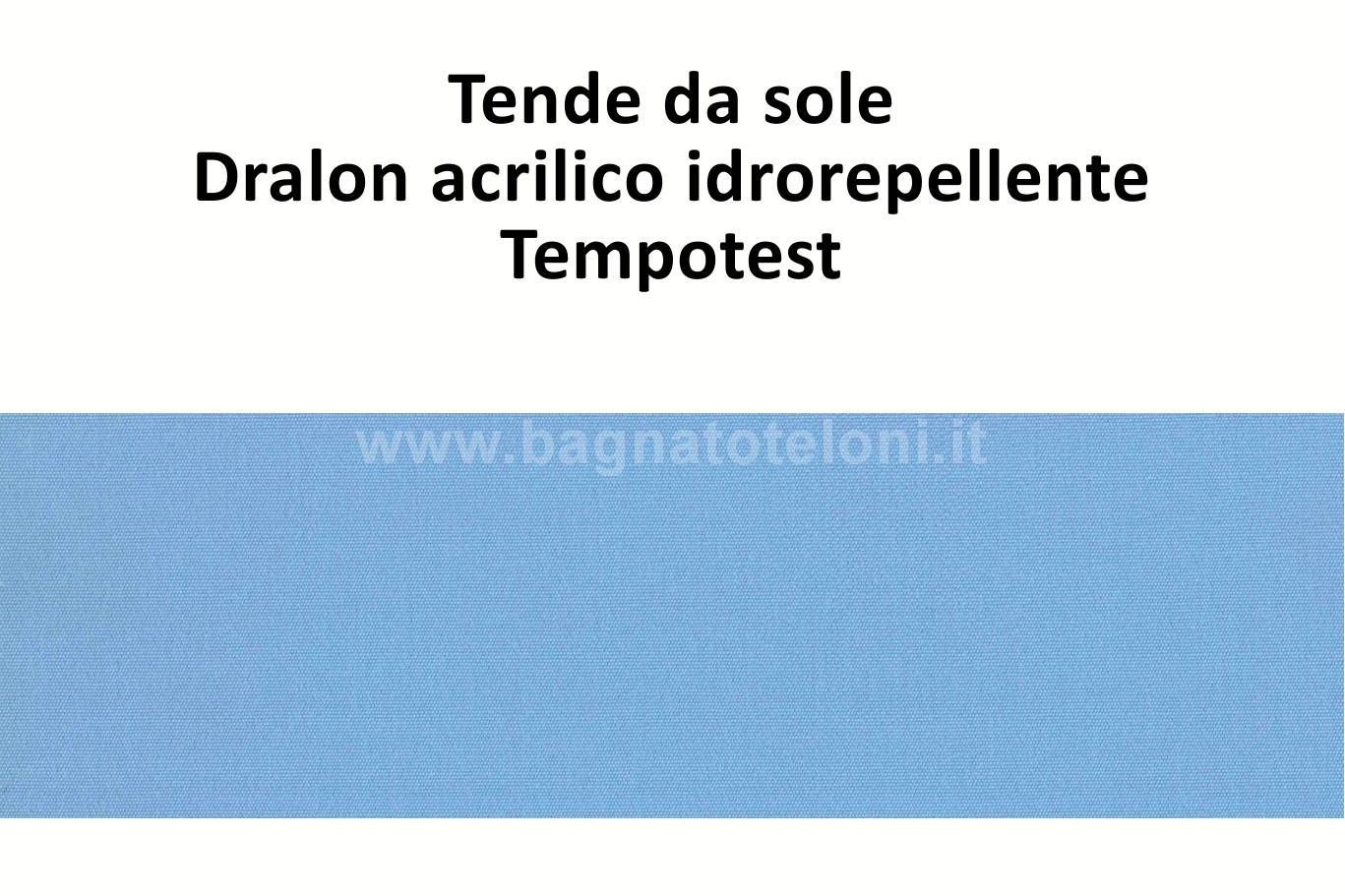 tende da sole dralon acrilico idrorepellente azzurro