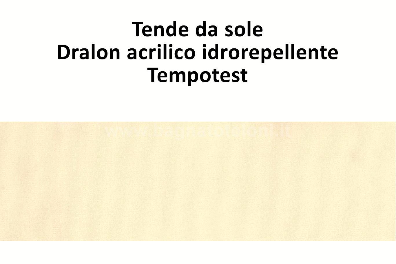 tende da sole dralon acrilico idrorepellente beige