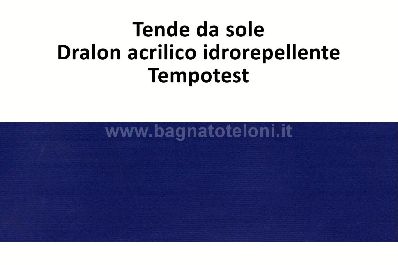 tende da sole dralon acrilico idrorepellente blu