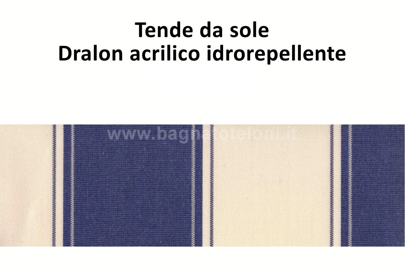 tende da sole dralon acrilico idrorepellente rigato blu