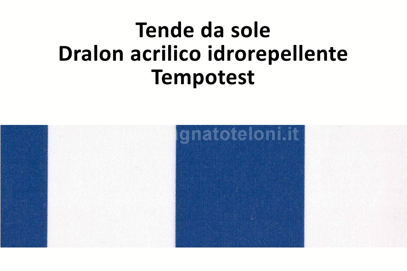 tende da sole dralon acrilico idrorepellente rigato doppio blu