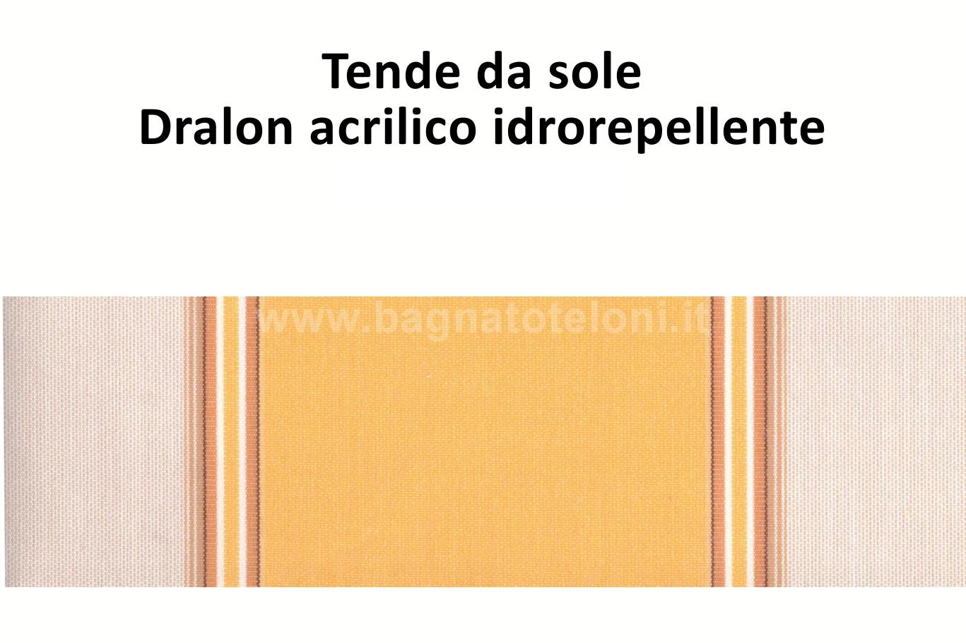 tende da sole dralon acrilico idrorepellente rigato giallo