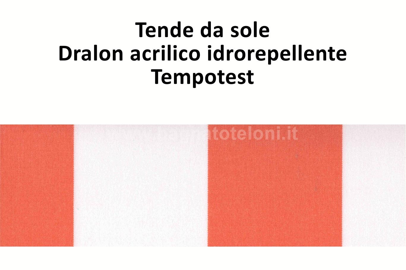 tende da sole dralon acrilico idrorepellente rigato mattone