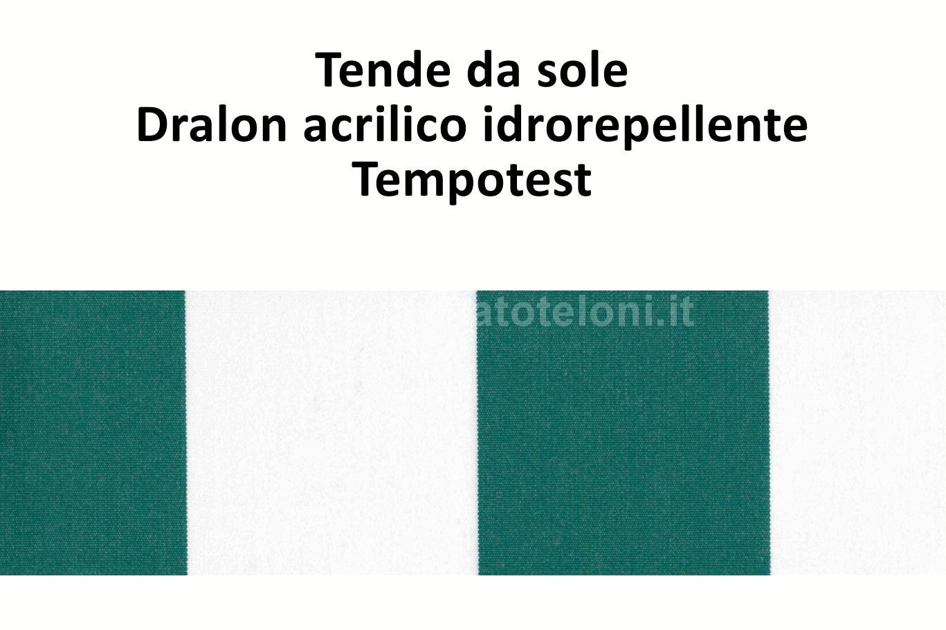 tende da sole dralon acrilico idrorepellente rigato verde