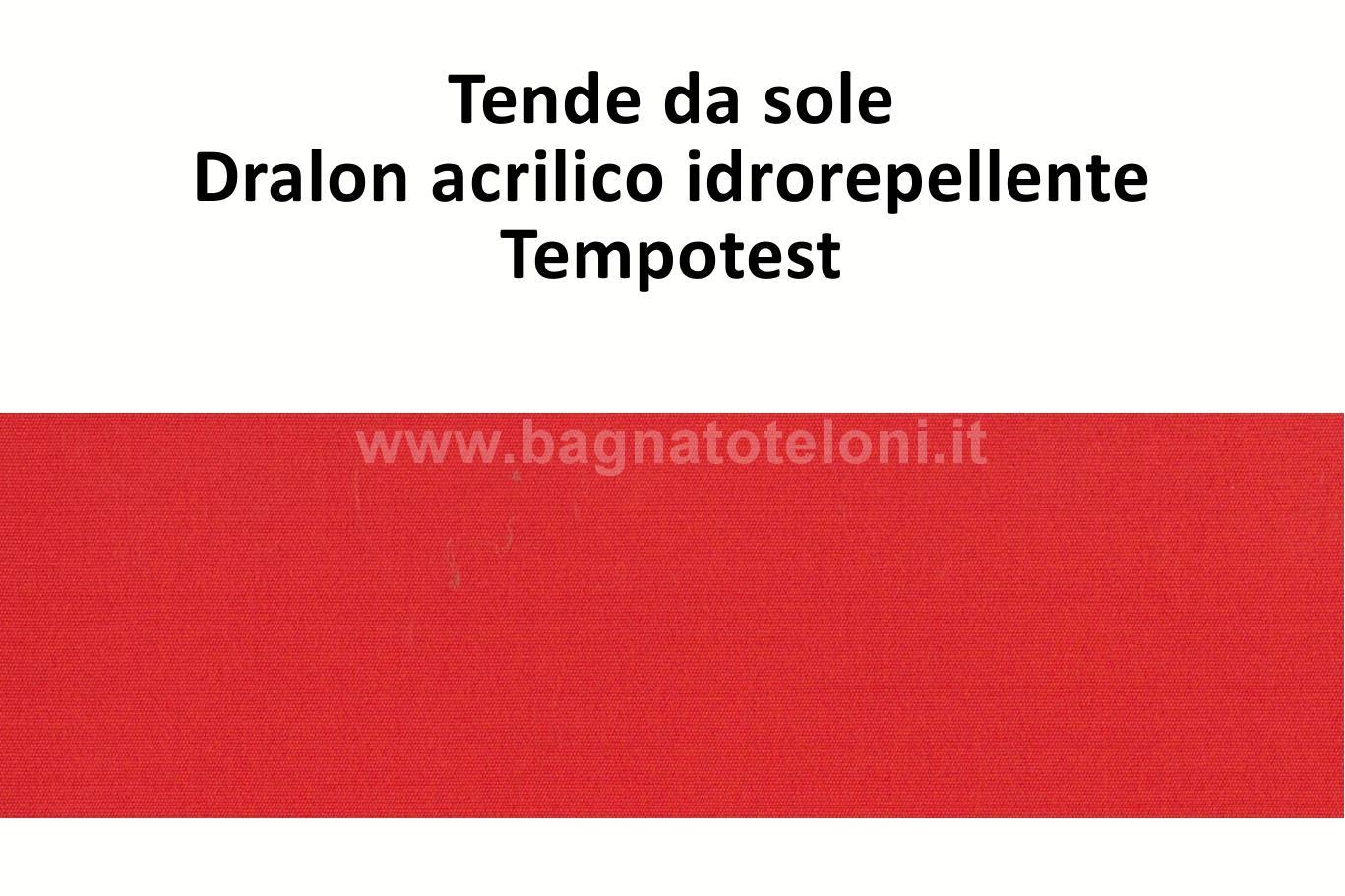 tende da sole dralon acrilico idrorepellente rosso