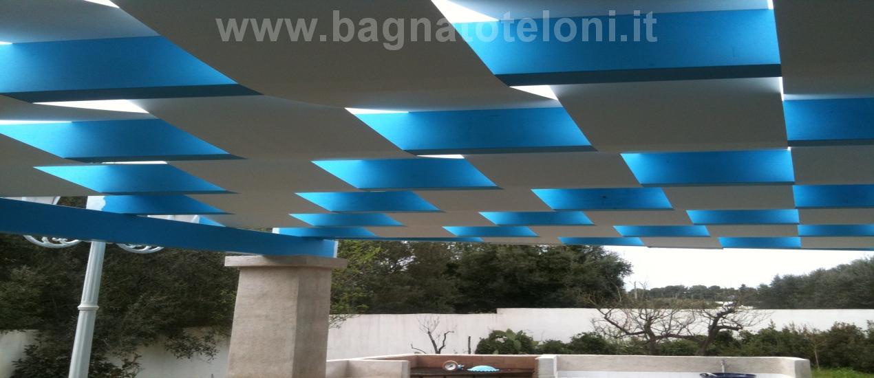 Tenda da sole fasce onda tipo pergolato frangisole adatto per ville e giardini