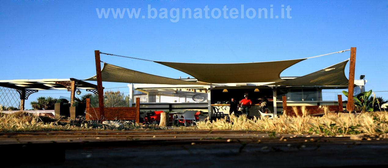 Tenda da sole in rete Tentmesh, ottime per soluzioni d'ombra in giardini, terrazze e centri turistici