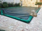 Coperture per piscine in Tarpool Plus 300gr./mtq. verde/nero