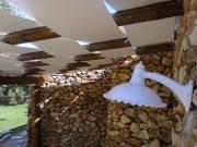 Tenda pergolati fasce onda su strutture in legno 12