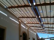 Tenda pergolati fasce onda su strutture in legno 7b